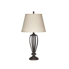 """Mildred 29.6"""" H Table Lamp with Empire Shade (Set of 2)"""