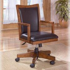 High-Back Cross Island Swivel Office Chair with Arms