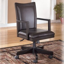 High Back Carlyle Swivel Leather Office Chair with Arms