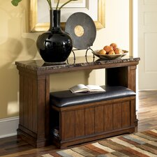 Mapleton Console Table with Ottoman
