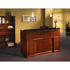 Sorrento Series Rectangular Reception Desk with Marble Counter