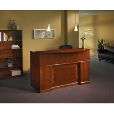 Sorrento Series Rectangular Reception Desk with Veneer Counter