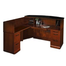 Sorrento Series L-Shape Reception Desk with Marble Counter