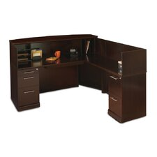 Sorrento Series L-Shape Reception Desk with Veneer Counter