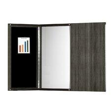 Medina Series Presentation Magnetic Enclosed Whiteboard, 4' x 4'