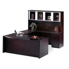 Corsica Series U-Shape Executive Desk with Hutch