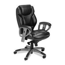Series 300 Mid-Back Leather Executive Chair