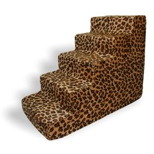 Animal Print 5 Step Pet Stair (Set of 2)