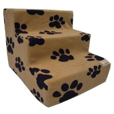 Pet Stairs in Beige Fleece