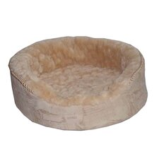 Plush Bolster Dog Bed