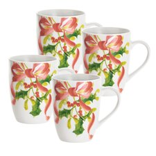 Christmas Wreath 11 oz. Mug (Set of 4)