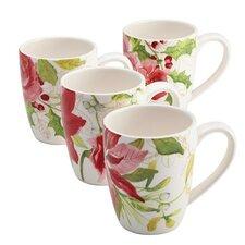 Signature Holiday Floral Mug (Set of 4)