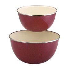 2 Piece Enamel on Steel Mixing Bowl Set