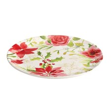 Signature Holiday Floral Round Platter