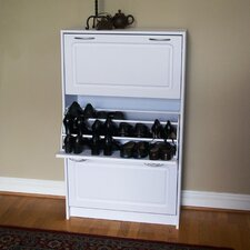 Storage and Organization Deluxe Triple Shoe Cabinet