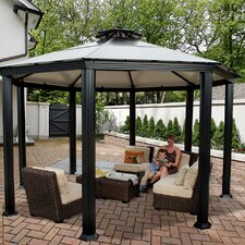 Monte Carlo Four Season 14 Ft. W x 14 Ft. D Aluminum Gazebo