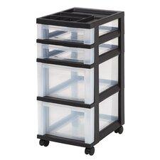 4 Drawer Rolling Storage Cart