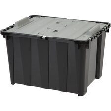 12 Gallon Storage Tote with Hinged Lid (Set of 6)