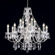 12 Light Classy Crystal Chandelier
