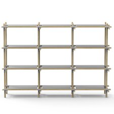 "Stick System 52.5"" H Four Shelf Shelving Unit"