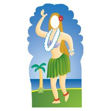 Life-Size Stand-Ins Hula Girl Cardboard Stand-Up