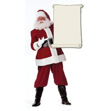 Christmas Santa Claus with Scroll Cardboard Stand-up