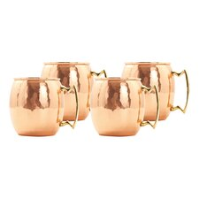 Moscow Mule 18 oz. Hammered Mug (Set of 4)