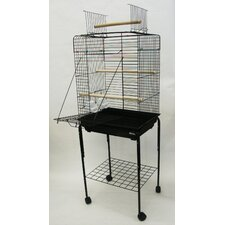 Open Play Top Small Parrot Bird Cage with Stand