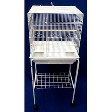 Square Top Small Bird Cage with Stand