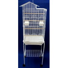 Villa Top Small Bird Cage with Stand and 4 Feeder Doors