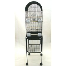 Tall Round 4 Perch Bird Cage with Stand