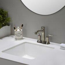 Elavo™ Ceramic Square Undermount Bathroom Sink with Overflow