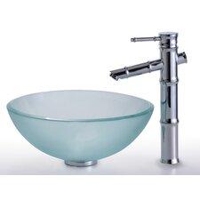 Clear Glass Vessel Bathroom Sink