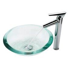 Clear 34mm Edge Glass Vessel Sink