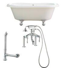 """Portsmouth 60"""" x 31"""" Dual Soaking Bathtub"""