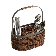 Caribbean  Accents Oval Flatware Caddy