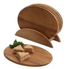 Elan 7 Piece Acacia Snack Set