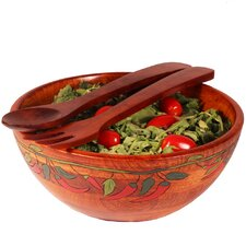 Salad With Style 3 Piece Hot Pepper Salad Bowl Set