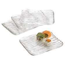 "8.5"" Square Sushi Platter (Set of 4)"