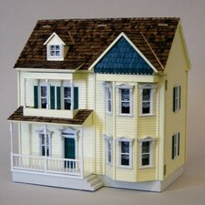 Half-Inch Scale Kits Front-Opening Victorian Components Dollhouse