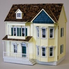 Half-Inch Scale Kits Front-Opening Victorian Shell Dollhouse