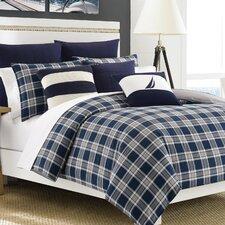 Eddington Comforter Set in Blue & Gray