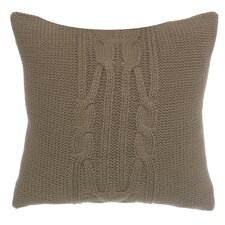 Longitude Cable Knit Decorative Cotton Throw Pillow