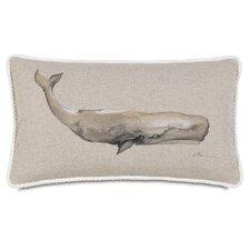 Ryder Hand-Painted Whale Lumbar Pillow