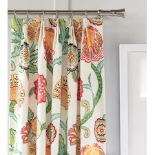 Portia Cotton Pleated Single Curtain Panel