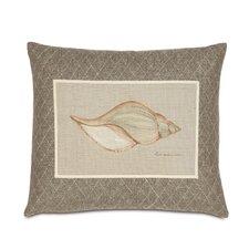 Avila Hand-Painted Shell Throw Pillow