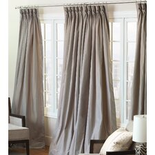 Freda Solid Tafetta Cotton Rod Pocket Single Curtain Panel