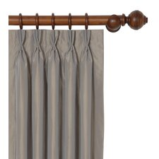 Freda Solid Tafetta Cotton Pleated Single Curtain Panel