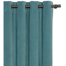 Jackson Solid Velvet Cotton Grommet Single Curtain Panel