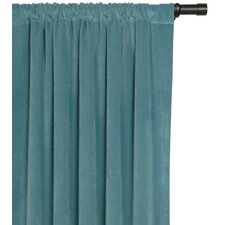 Jackson Solid Velvet Cotton Rod Pocket Single Curtain Panel